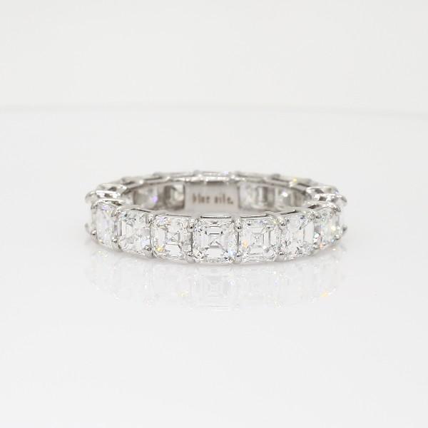 Asscher Cut Diamond Eternity Ring in Platinum (5 ct. tw