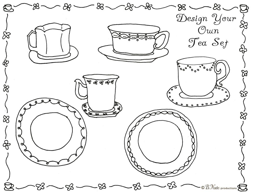 bnute productions: Tea Party Art Activity Ideas