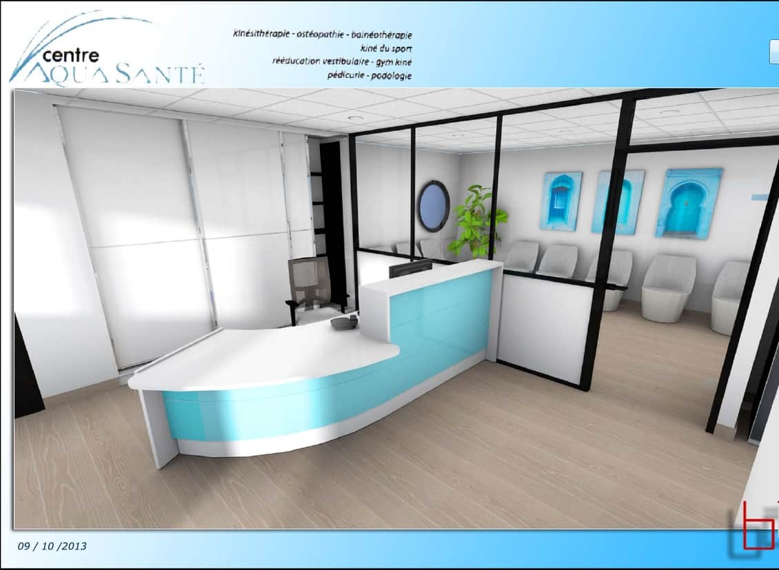 Accueil Et Salle Dattente Dun Centre Aqua Sant