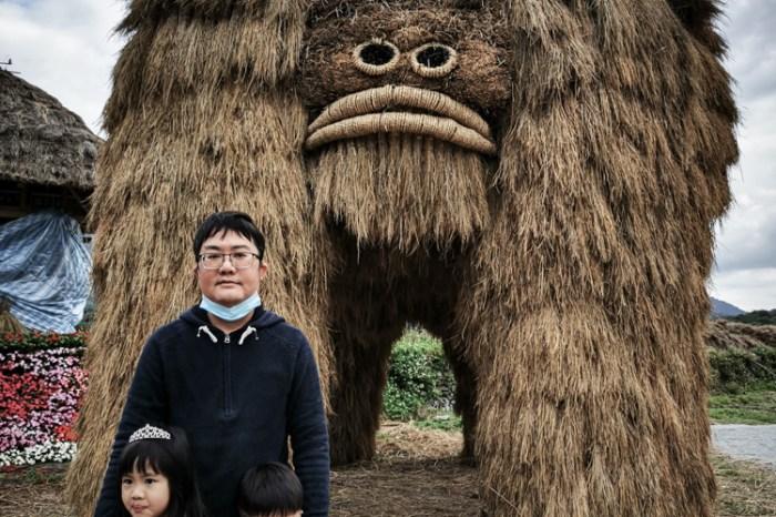 花蓮。富里》2021花蓮富里稻草藝術季,大型稻草動物可愛又好拍