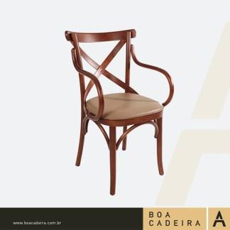 Cadeira-de-Madeira-com-braço-estofada-Recife