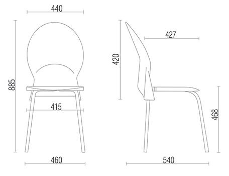 Cadeira de Metal carmo-DIMENSOES