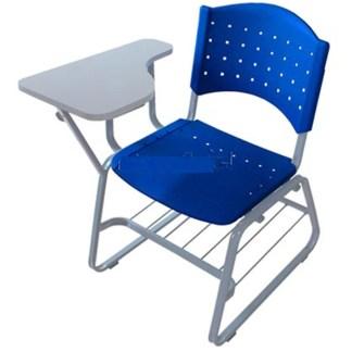 Cadeira Universitária com Prancheta e Porta Livros APARECIDA-trápezio