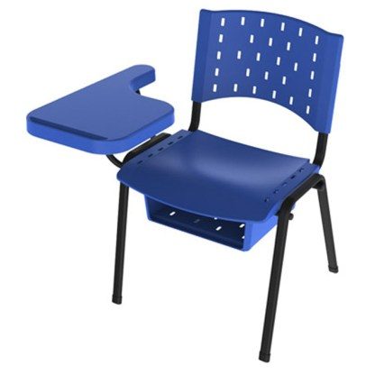 Cadeira Universitária com Prancheta e Porta Livros AREIÓPOLIS