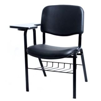 Cadeira Universitária com Prancheta e Porta Livros CAMPOS Estofada