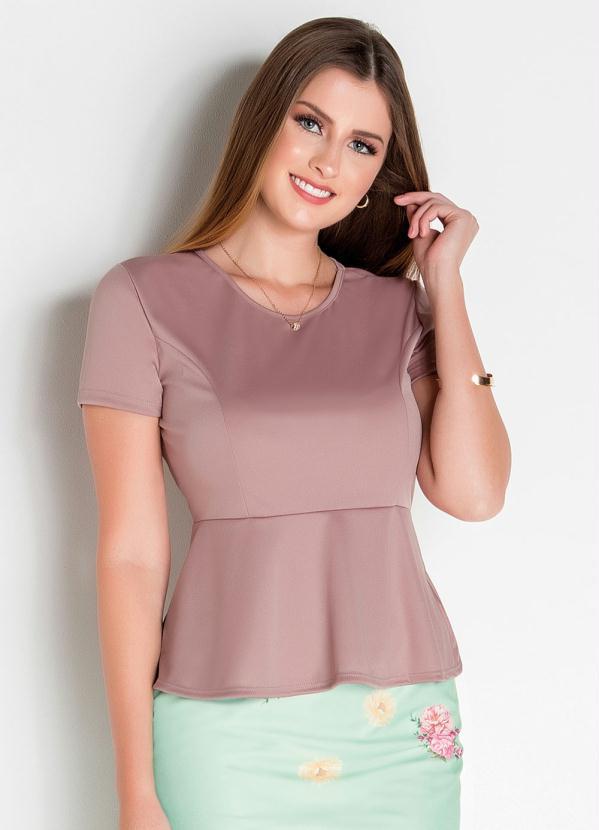 blusa cor de rosa