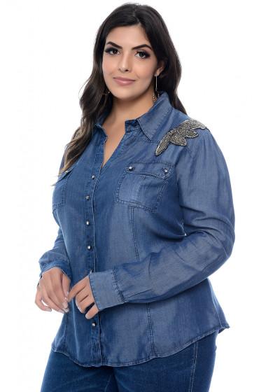 blusa moda plus size