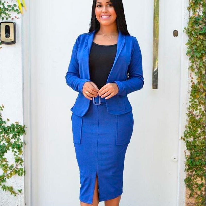 conjunto terninho azul