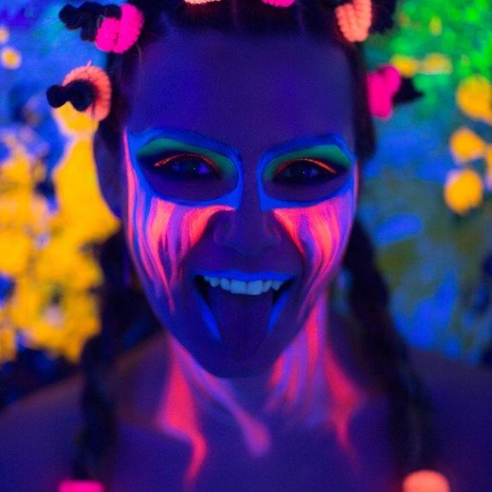 maquiagem neon para festas
