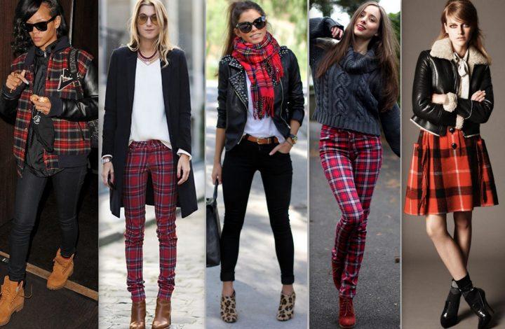 moda outono inverno estampa xadrez