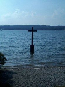 Ludwig's cross on the Starnberg Lake