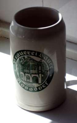 A litre krug from landbierparadies
