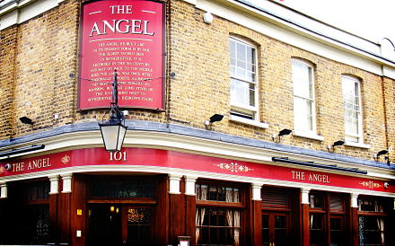 ...and after. The pub is the Angel in Wapping, by the way.
