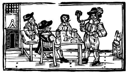 Drinking in Elizabethan England.