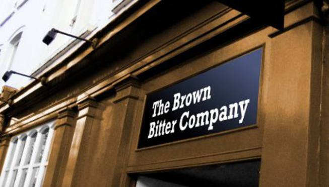 The Brown Bitter Company. (Mockup image.)