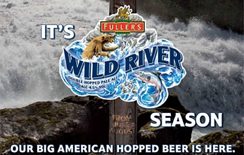 Wild River beer promotional material from Fuller's.