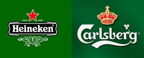 Carlsberg and Heineken logos side by side.