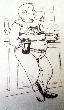 Fat CAMRA member cartoon.