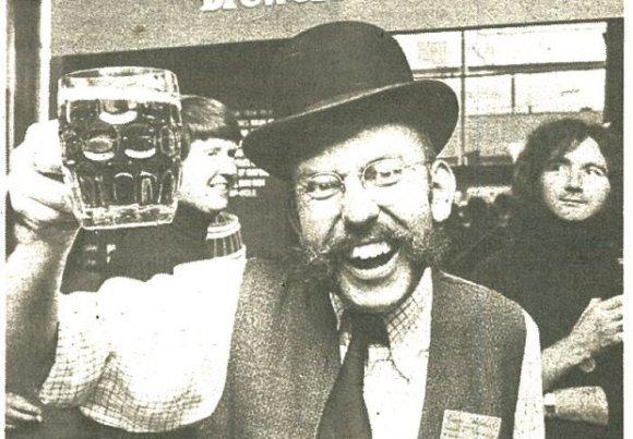 Garth Nicholls, Sheffield branch treasurer, What's Brewing, October 1976.
