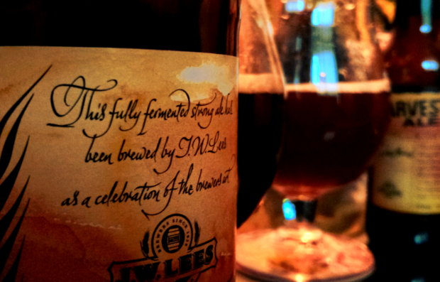 J.W. Lees Harvest Ale 2002 & 2009.