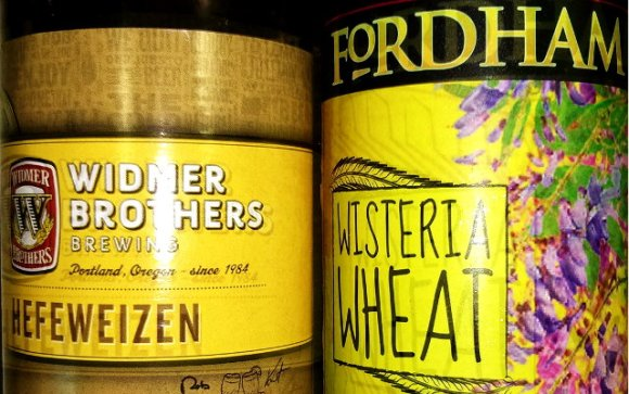 Two American wheat beers from Fordham and Widmer Bros.