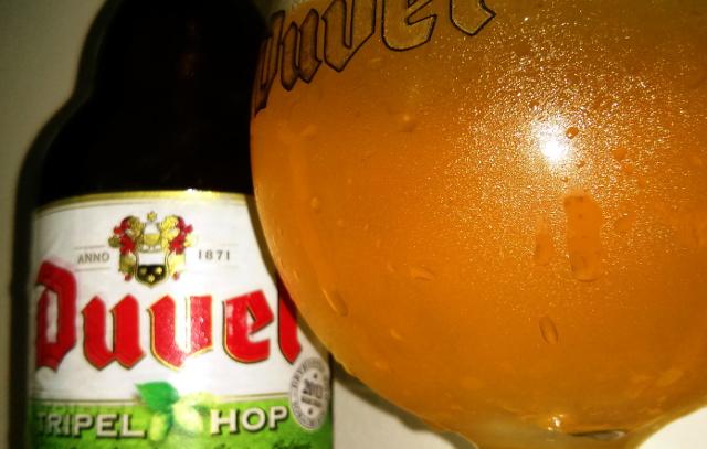 Duvel Tripel Hop strong golden ale.