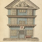Drawing of the Sign of the Rose Inn, Fenchurch Street, 1730.