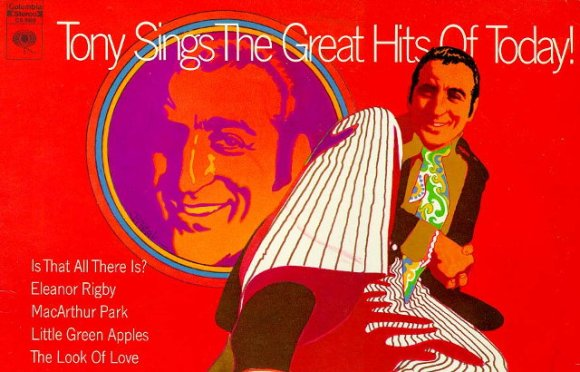 Detail from the cover of Tony [Bennett] Sings the Great Hits of Today (1970)