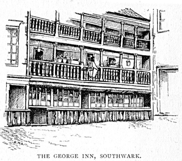 Illustration of the George Inn, Southwark, from Our Rambles in London, 1895.