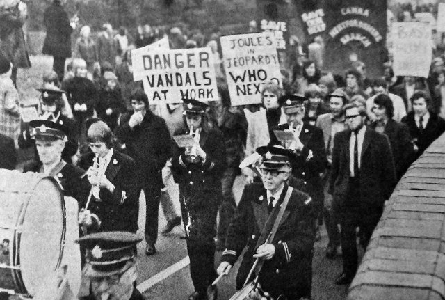 The march at Stone, 3 November, 1973.