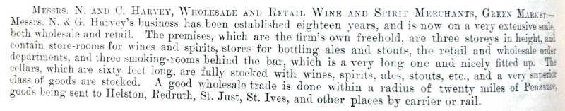 Penzance Booze Outlets 1898