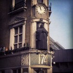 The Black Friar, City of London, clock and statue.