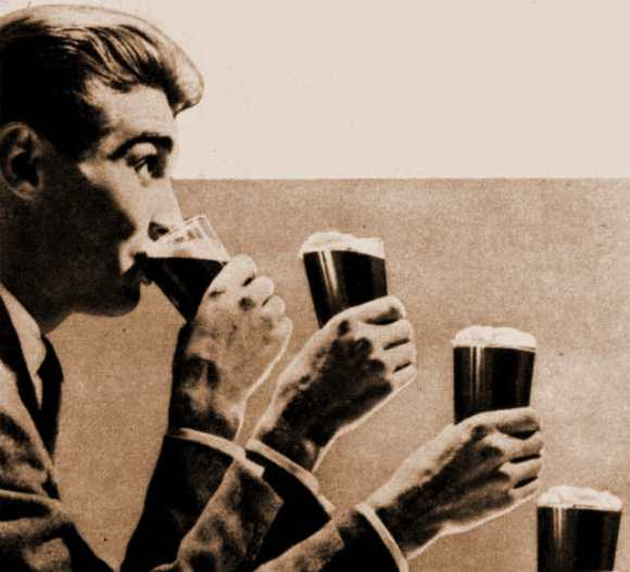 Detail from Watney's Brown Ale advertisement c.1960.