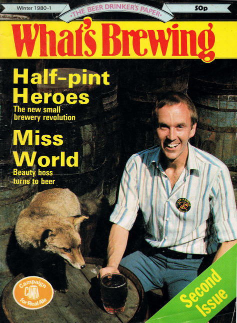 What's Brewing magazine, Winter 1980/81, featuring David Bruce.