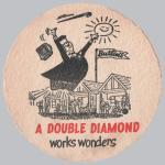 Double Diamond beermat, c.1956.