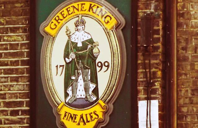 Greene King sign