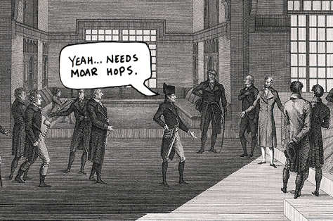 Napoleon talks hops with the Egyptian Institute.