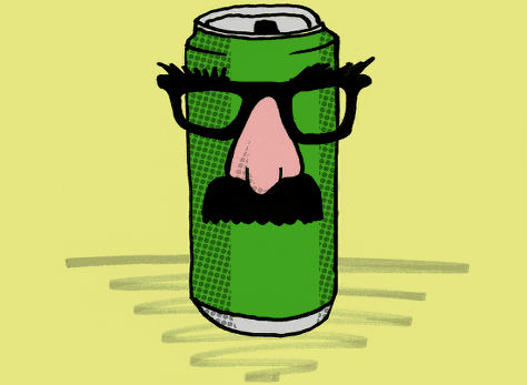A can of lager in cunning disguise.