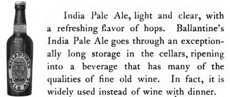 Ballantine Pale Ale, 1910.