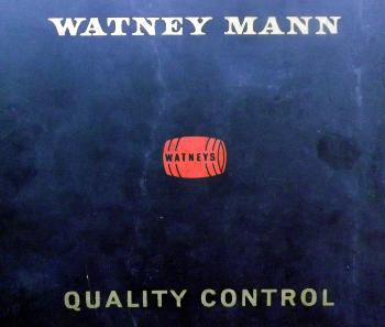 Watney Mann quality control manual, 1965.