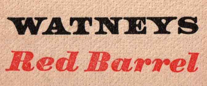 Watney's Red Barrel beer mat (detail).