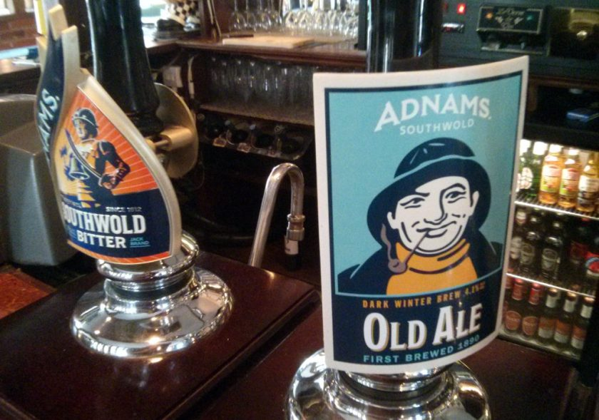 Pumpclip for Adnams Old Ale.