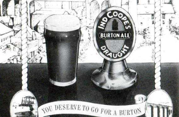 Draught Burton Ale ad from the CAMRA East London & City Beer Guide, 1986.