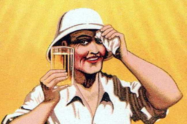 Detail from an advertisement for Allsopp's Pilsner, 1920s.