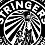 Detail from a label for Stringers Stout.