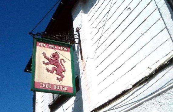The Red Lion, Higher Dittisham. (Sign.)