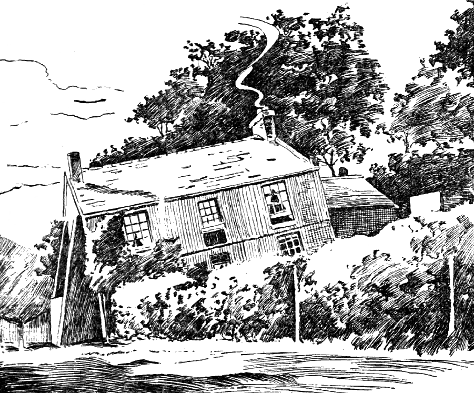 A 1906 newspaper illustration of the Crooked House.