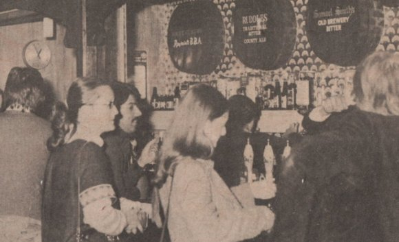 A bar in the 1970s.