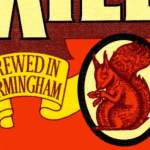 """Detail from Ansell's beer mat, 1970s: """"Brewed in Birmingham""""."""