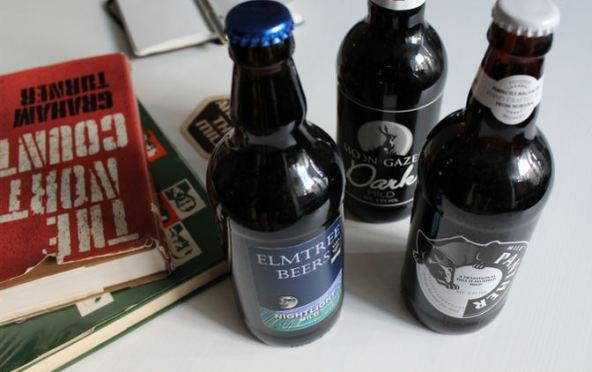 Batch 1 of milds, from Norfolk, in their bottles.
